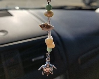 Turtle Car Charm for Rear View Mirror