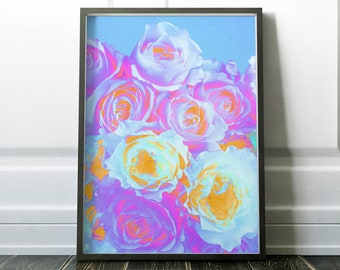 Abstract Roses | Floral | Printable | Home Decor | Wall Art | Download | 16x20