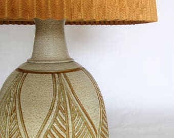 Wishon-Harrell Table Lamp  Vintage California Studio Pottery- Bohemian-Jungalow Style