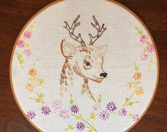 Oh Deer Embroidery Hoop