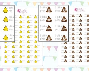 Toilet/Potty Toddlers Training Reward Stickers