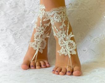 Barefoot sandals wedding, wedding shoes, wedding shoes lace, wedding shoes for bride, wedding shoes