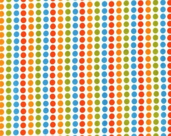 Robert Kaufman Fabric, Candy Stripe Dots in Bermuda, Remix Collection by Ann Kelle, 1 Yard