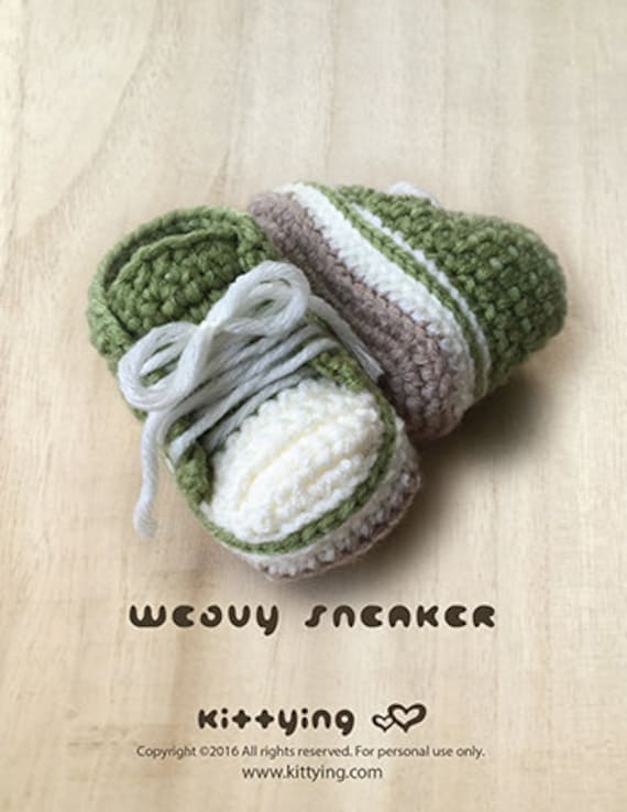 Häkelarbeit-Baby-Muster Wellig Baby-Turnschuhe Crochet