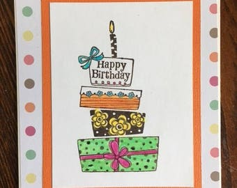 Handmade Greeting Card -  Happy Birthday Greeting Card