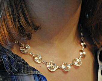 Halskette Silber Spirale in der Wahl der Silber Klasse