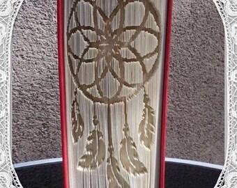 Dream Catcher Book Folding Art Pattern Spiritual Mystical Unusual Gift