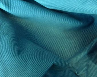 Needle Thin Balter Blue Corduroy Fabric - 43 Inches Wide