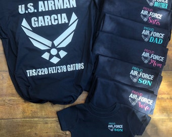 Air Force Shirt. Family shirts. Air Force Graduation. Armed Forces. Military. U.S Airman