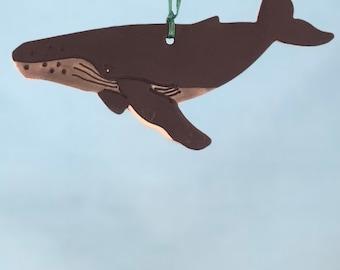 Humpback Whale - Porcelain Ornament