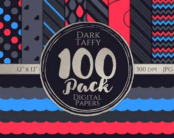 Digital Paper 100 Pack - Dark Taffy - Commercial Use