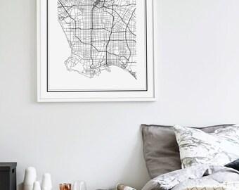 Los Angeles Map Print, Los Angeles Map, LA Map, LA Map print, Los Angeles Map Poster, California Map, Los Angeles Map Art, US City Map