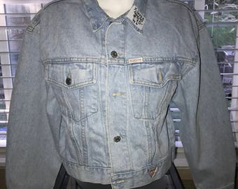 Vintage Denim - Guess Denim Jacket - 1980's - Women's Extra Large - Made in the USA