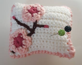 Cherry Blossom Pincushion - Hijab Crochet Pincushion - Hijab Accessory  - sewing accessory - quilter - islamic gift -  eid gift