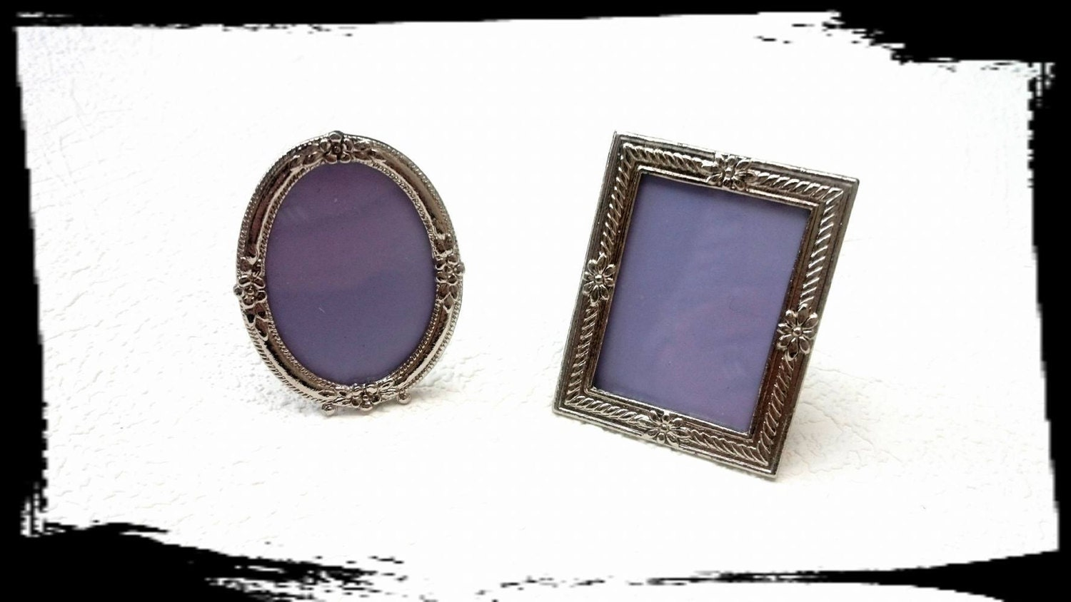 Two Miniature Photo Frames ,pocket photo,wedding, scrapbooking ...