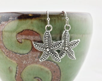 Starfish earrings - Starfish jewelry - beach jewelry - seashell earrings - seashell jewelry - beach earrings - ocean life - starfish
