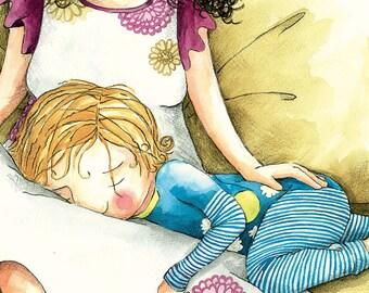 MOM pillow - original ILLUSTRATION