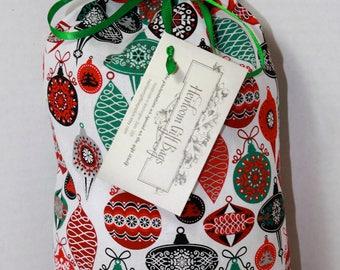 Cloth Gift Bags Fabric Gift Bags Small Cloth Gift Sacks Christmas Vintage Ornaments