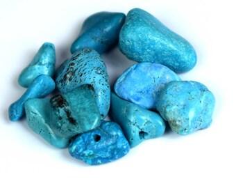 68.30 Ct. Natural Arizona Mine Kingman Turquoise Gemstone Drilled Rough Lot
