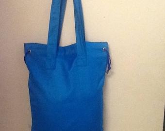 Blue Tapestry Bag w/Draw String