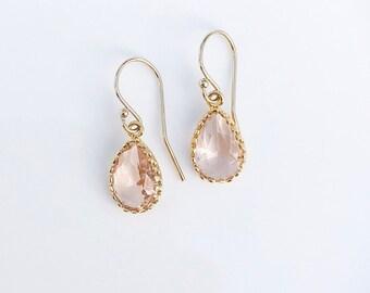 Peach Blush Necklace & Earrings