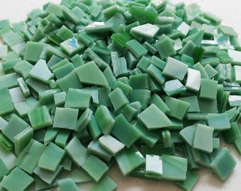 MOSAIC Glass Tiles * 1/2 lb * Green Opal