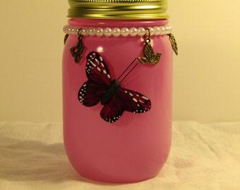 Pink Butterfly Jar
