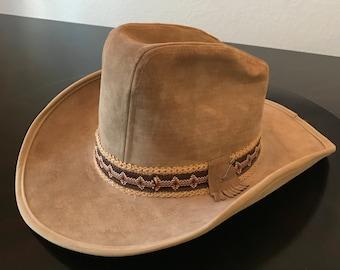 Vintage Stetson Cowboy Hat/ JBS Stetson Suede Leather Cowboy Hat