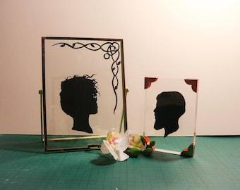 Silhouette Papercut Portrait