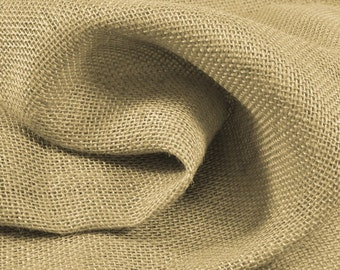 Natural Color Burlap Fabric - by the Yard