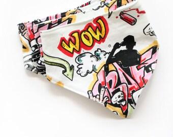 Graffiti Bandana Bib / Spray Paint Bib / Drool Bib / Unisex Bib / Bibdana / Trendy Kids Clothes / Feeding Accessories / Drib