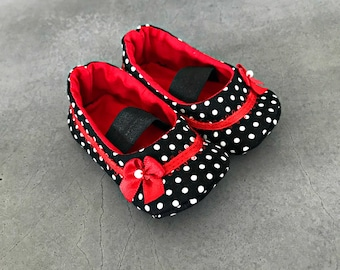Polka Dot Punk Baby Shoes - Rockabilly Baby - Baby Girl Shoes - Baby Girl Gift - Punk Rock Baby Girl - Baby Shower Gift