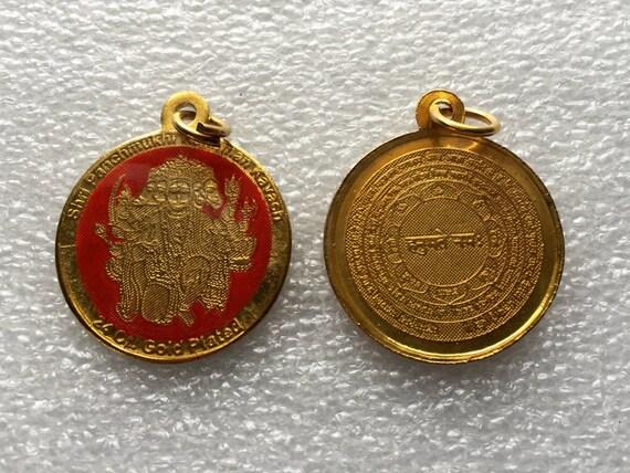 Sri panchmukhi hanuman yantra kavach pendant amulet blessed aloadofball Choice Image