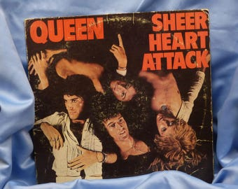 Sheer Heart Attack by Queen ~  Collectible ~ LP Vinyl Record ~ Vintage Album ~ Butterfly Label ~ BONUS Poster ~