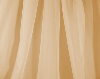 Sheer Voile Fabric Extra Wide in Gold - Sold By The Yard