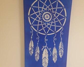 Dreamcatcher colored canvas 10x20