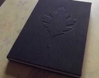 Oak leaf handbound book A5