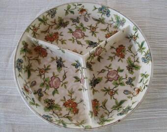 Vintage Moriyama Divided Serving Dish Hand Painted Japan