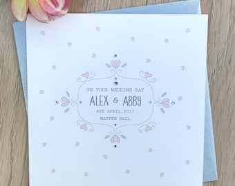 Wedding Card personalised with names, date and venue
