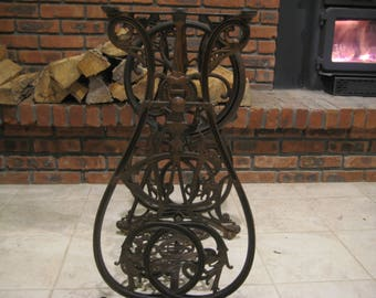 Ornate Willcox & Gibbs Iron Treadle Sewing Machine Base Pat.Date 1857-70 Working Repurpose