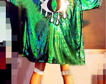 Magical All Seeing Eye Sequin Festival Jacket