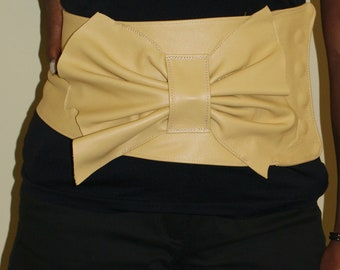 Yellow Leather Belt - The Banana Butterfly