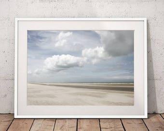 Beach Wall Art Prints, Seascape Printable, Ocean Photography, Beach Decor, Nautical Decor, Digital Prints, Large Wall Art Ocean Print