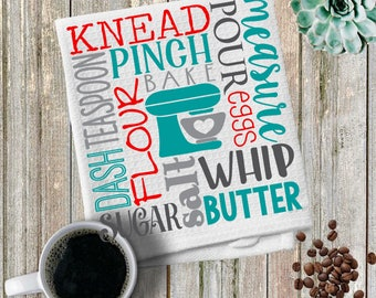 Custom made personalized Knead/Quote/kitchen Towels/ Towel/ Hand/Tea Towels/Kitchen Towels/Kitchen Gifts/Housewarming