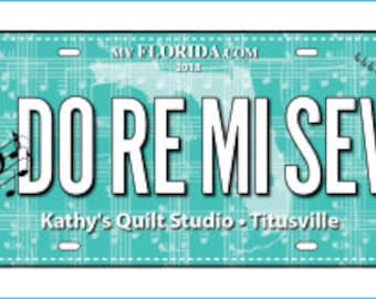 Row by Row License Plate 2018 - Do Re Mi Sew - Sew Musical - On the Go - 2018 Row x Row