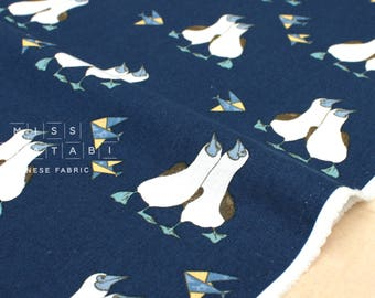 Japanese Fabric Gannet canvas - navy blue - fat quarter