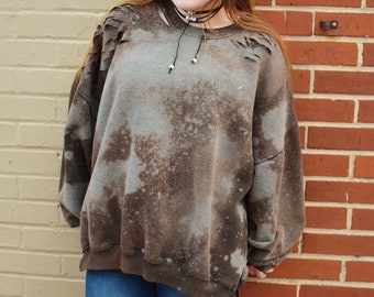 Distressed Gray Sweatshirt