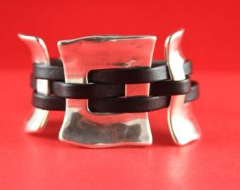 10/1 MADE in EUROPE shiny zamak 3 piece set,  bracelet set, silver zamak findings (43/38/39/40)