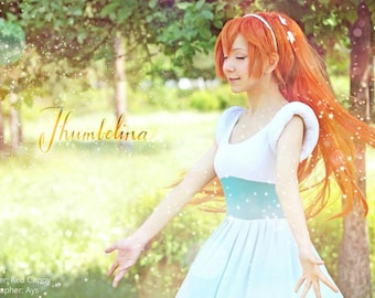 Thumbelina cosplay costume dress  Warner Bros Disney princess