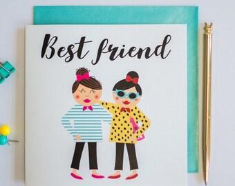 Best friend greeting card